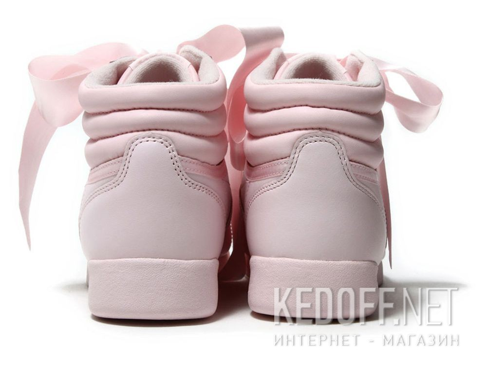 a1af170ace8 Women Reebok sneakers Freestyle Hi Steals Hearts Hi Satin Bow CM8905 купить  Киев