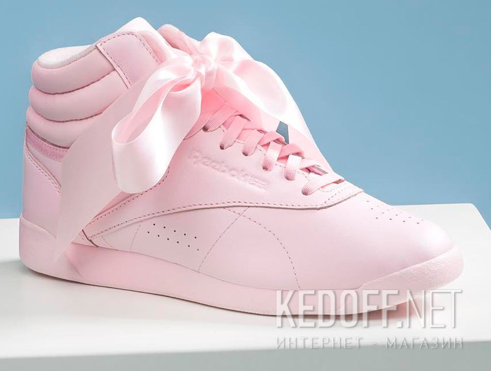 6d31516c4c5ac Delivery Women Reebok sneakers Freestyle Hi Steals Hearts Hi Satin Bow  CM8905