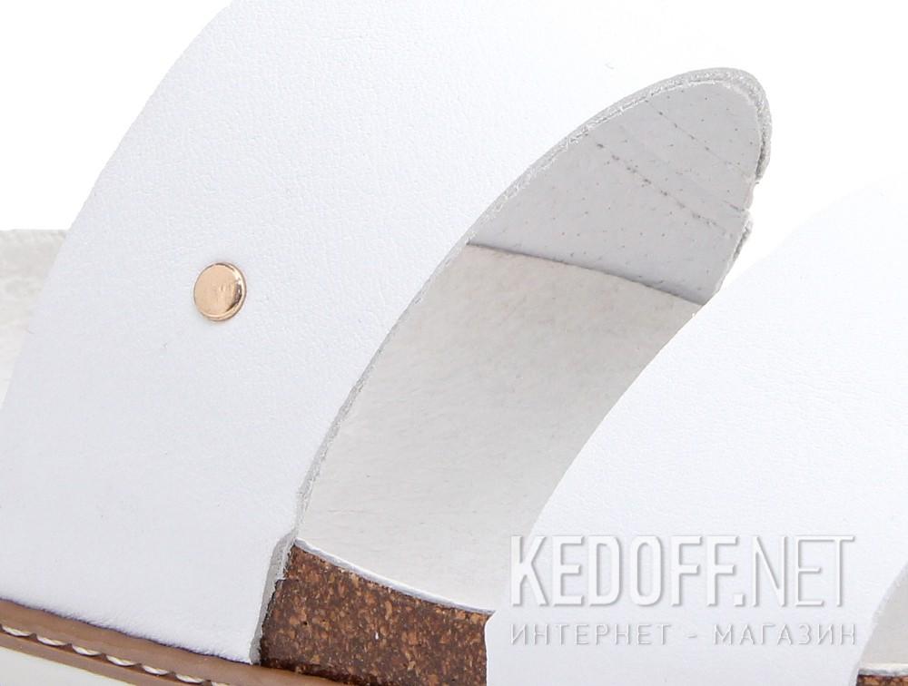 Белые шлепанцы Las Espadrillas 07-0270-005