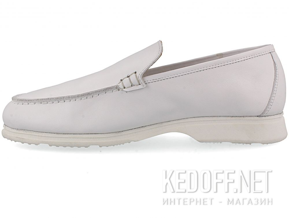 Женские мокасины Las Espadrillas Soft Leather 417-13 Optical White купить Украина