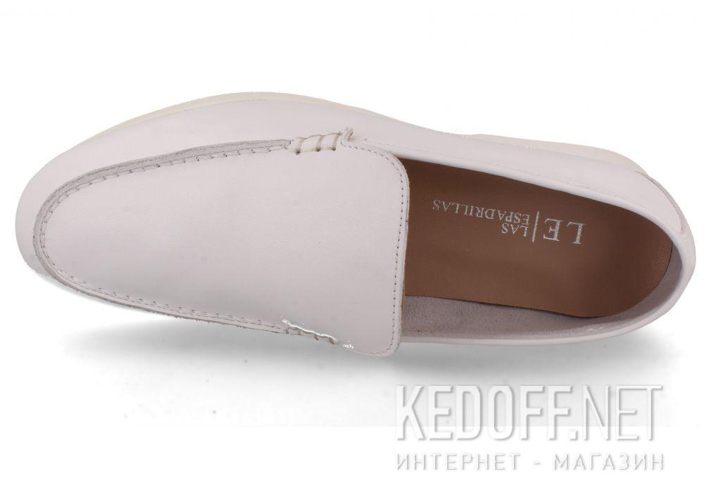Оригинальные Женские мокасины Las Espadrillas Soft Leather 417-13 Optical White