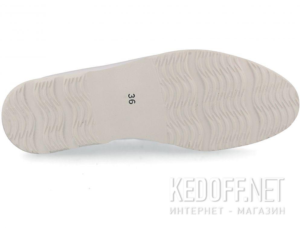 Женские мокасины Las Espadrillas Soft Leather 417-13 Optical White описание
