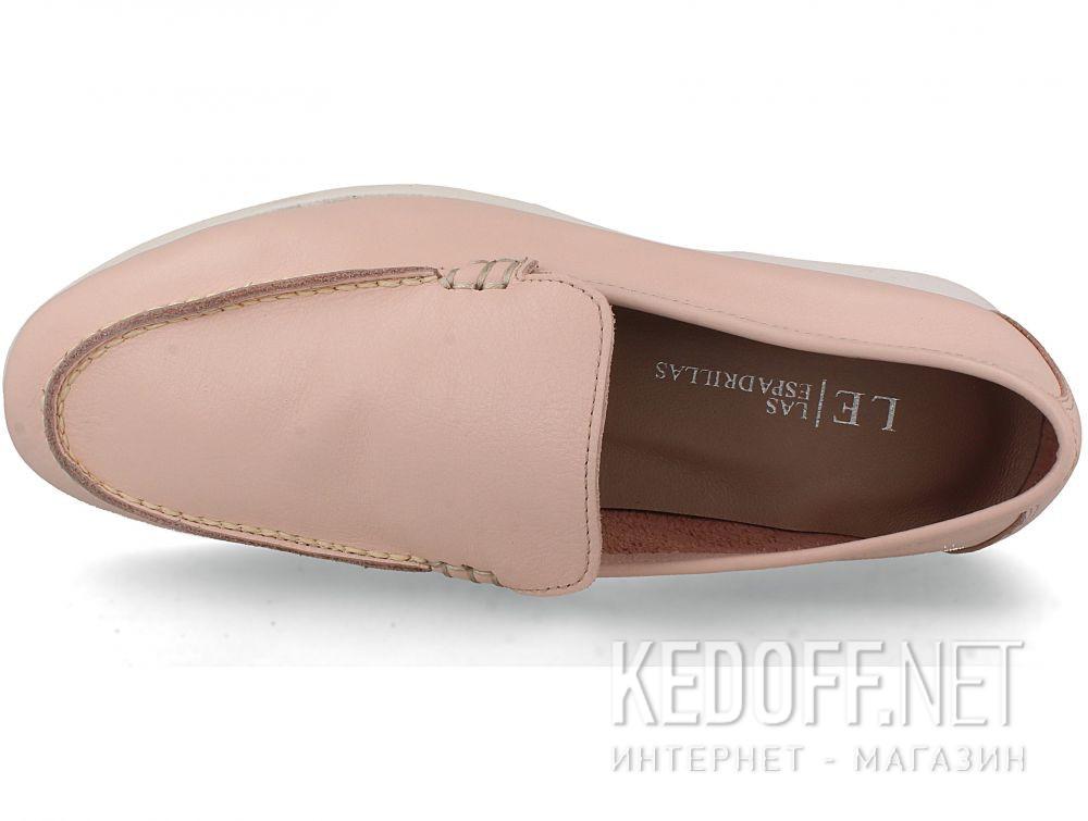 Жіночі мокасини Las Espadrillas Soft Leather 417-34 Pudra купити Україна