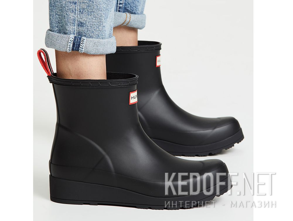 fdc11b80e13 Women's rain boots Hunter Original Play Boot Short WFS2020RMA BLACK