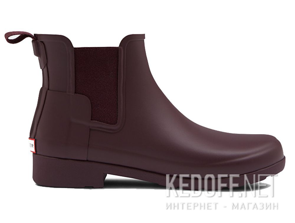 Жіночі гумові чоботи Hunter W Org Refined Chelsea WFS1017RMA OXBLOOD купить Киев