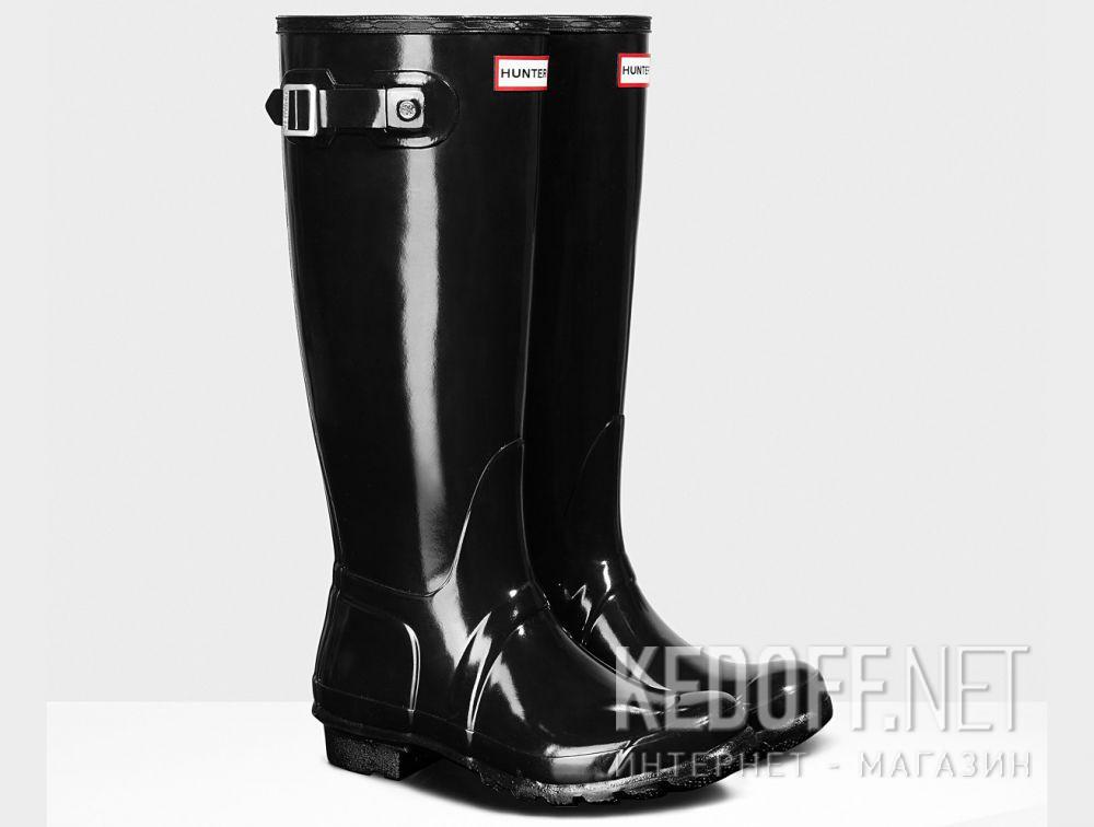 Жіночі гумові чоботи Hunter Women s Original Tall Gloss Black WFT1000RGL  BLACK купити Україна 7d7b4f6dad638