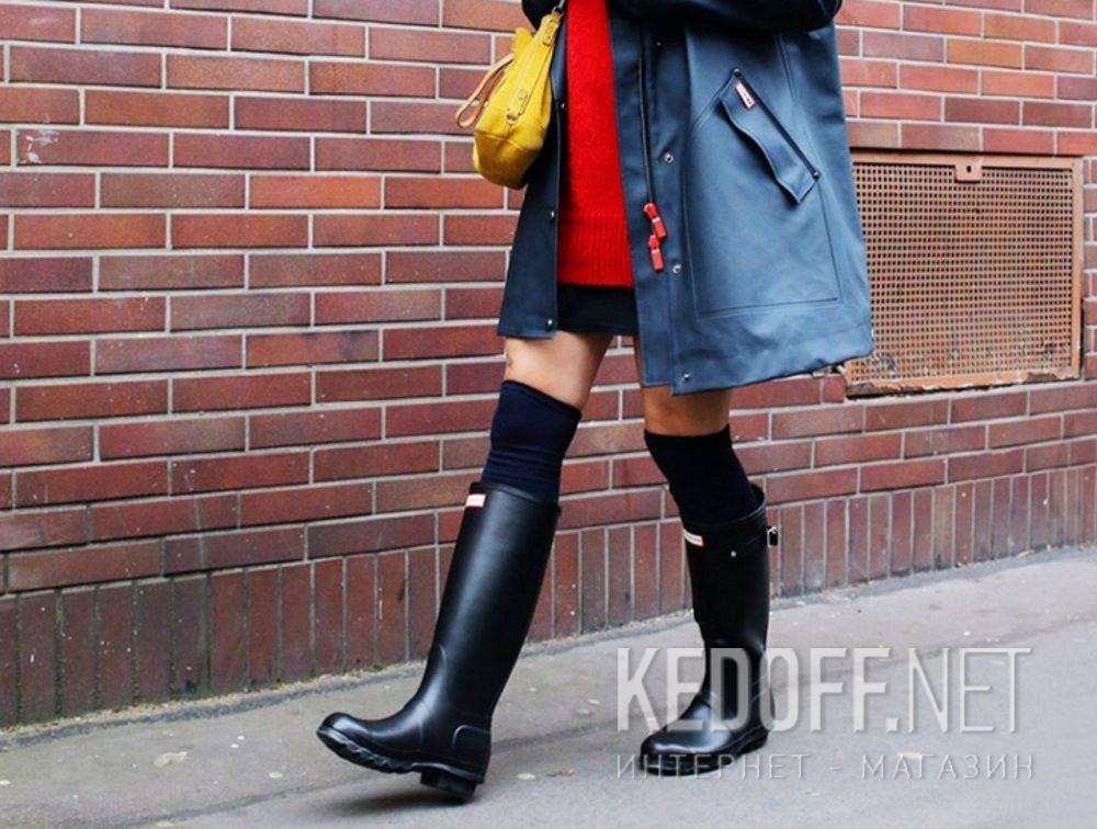 7a4bd9a98588 Delivery Women's rain boots Hunter Women's Original Tall Gloss Black  WFT1000RGL BLACK