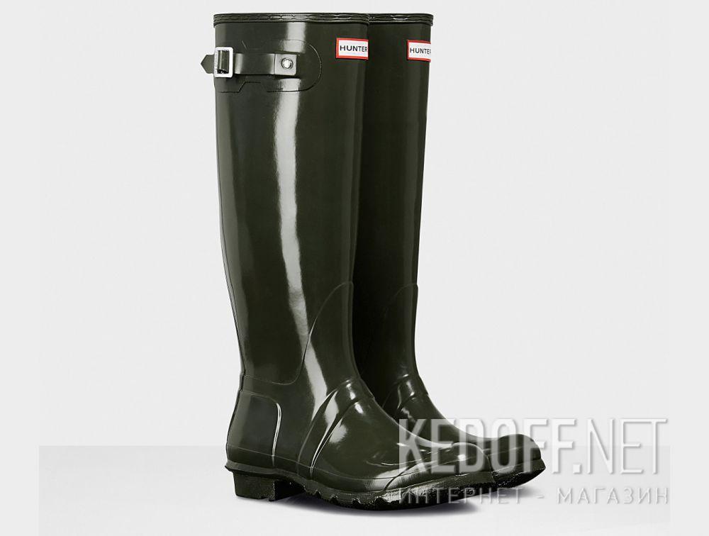 Жіночі гумові чоботи Hunter Women's Original Tall Gloss WFT1000RGL HUNTER GREEN купити Україна