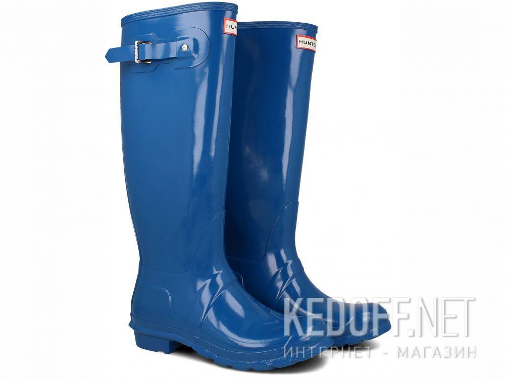 Женские резиновые сапоги Hunter Women's Original Tall Gloss WFT1000RGL OCEAN BLUE купить Украина