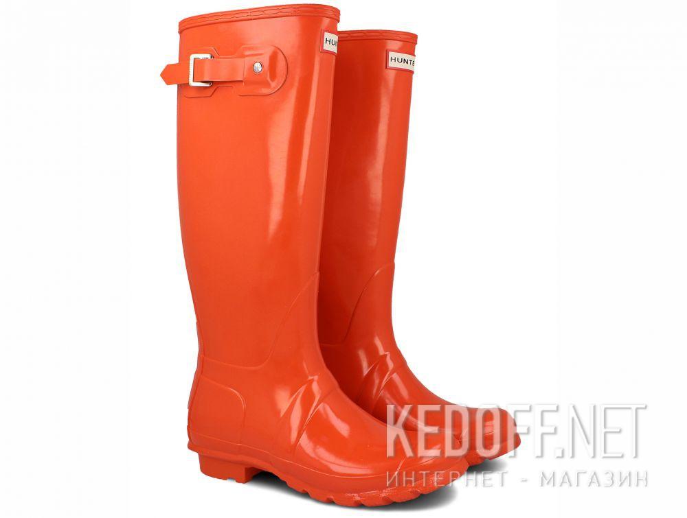 Женские резиновые сапоги Hunter Women's Original Tall Gloss WFT1000RGL ORANGE купить Украина