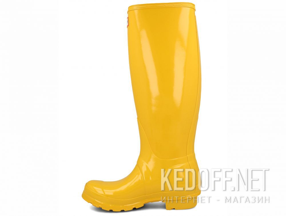 Оригинальные Women's rain boots Hunter Women's Original Tall Gloss Yellow WFT1000RGL