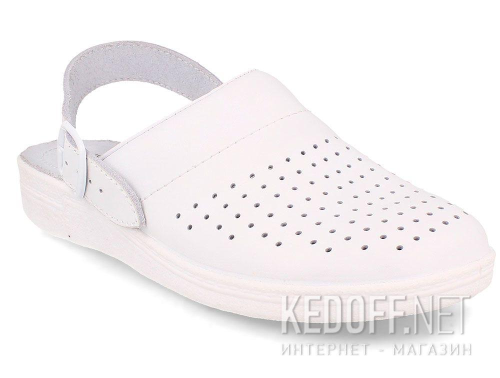 Купить Кожаная докторская обувь Forester Sanitar 0404-13 White
