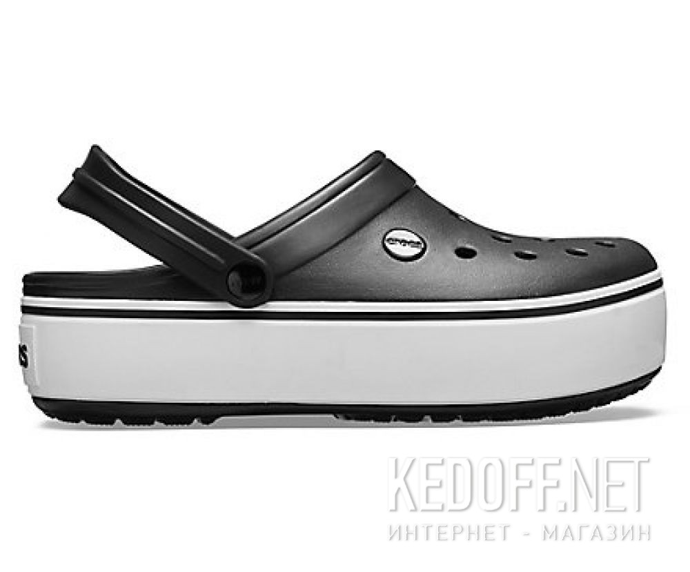Жіночі сандалі Crocs Crocband Platform Clog Black/White 205434-066 купити Україна