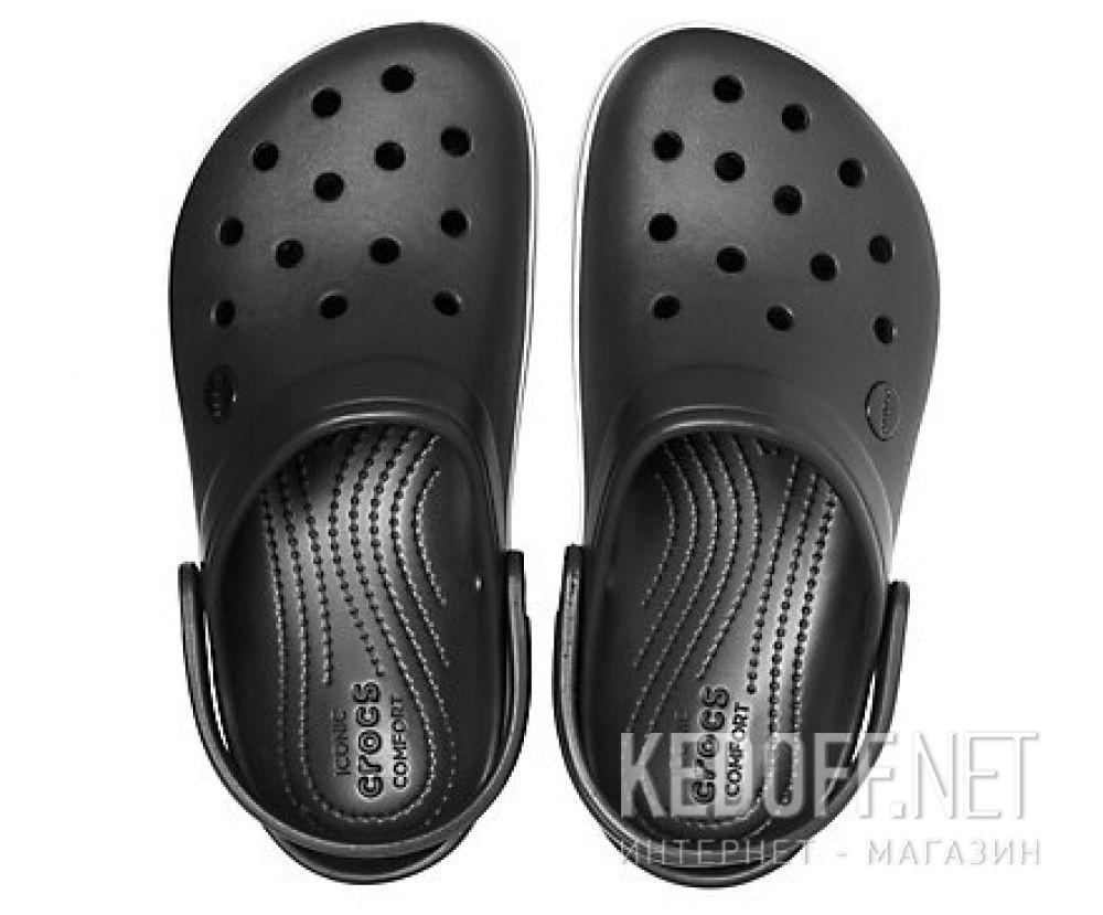 Оригинальные Жіночі сандалі Crocs Crocband Platform Clog Black/White 205434-066