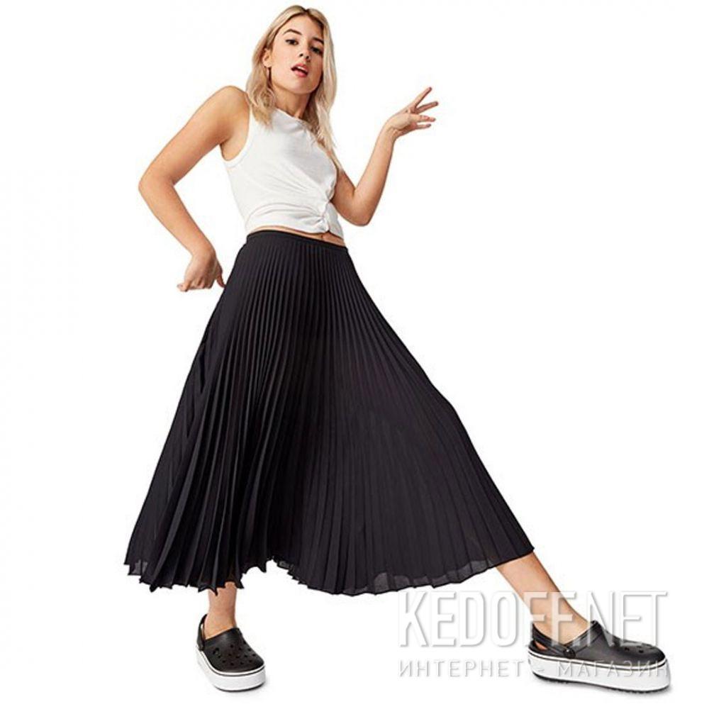 Жіночі сандалі Crocs Crocband Platform Clog Black/White 205434-066 все размеры