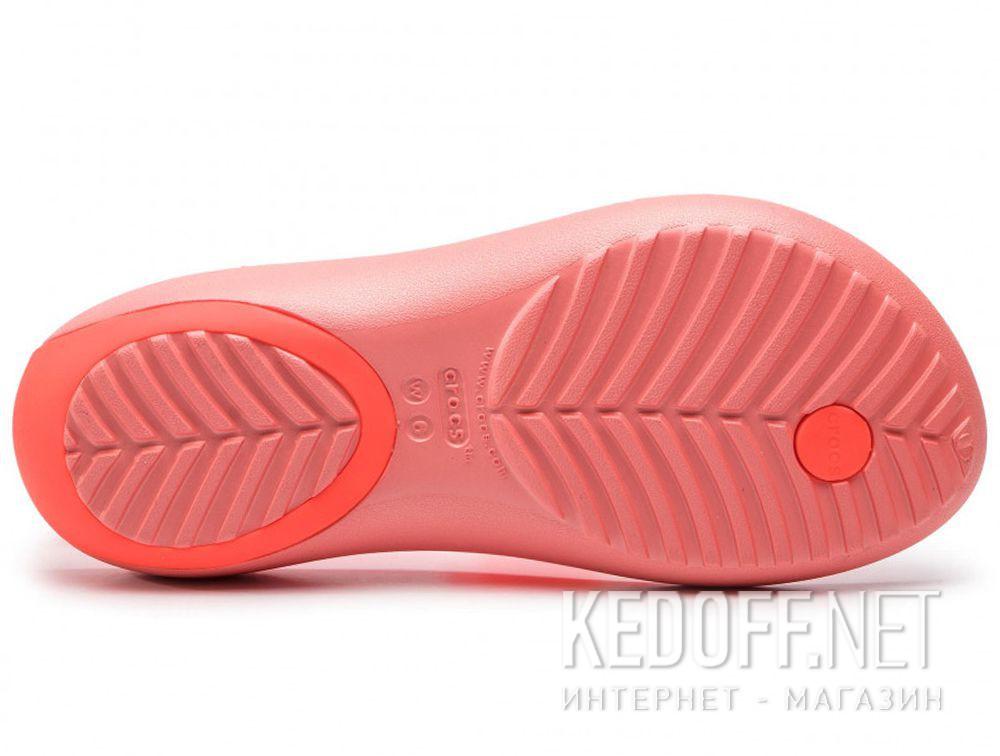 Оригинальные Женские сандалии Crocs Serena Embellish Flip W Bright Coral/Melone 205600-6PT