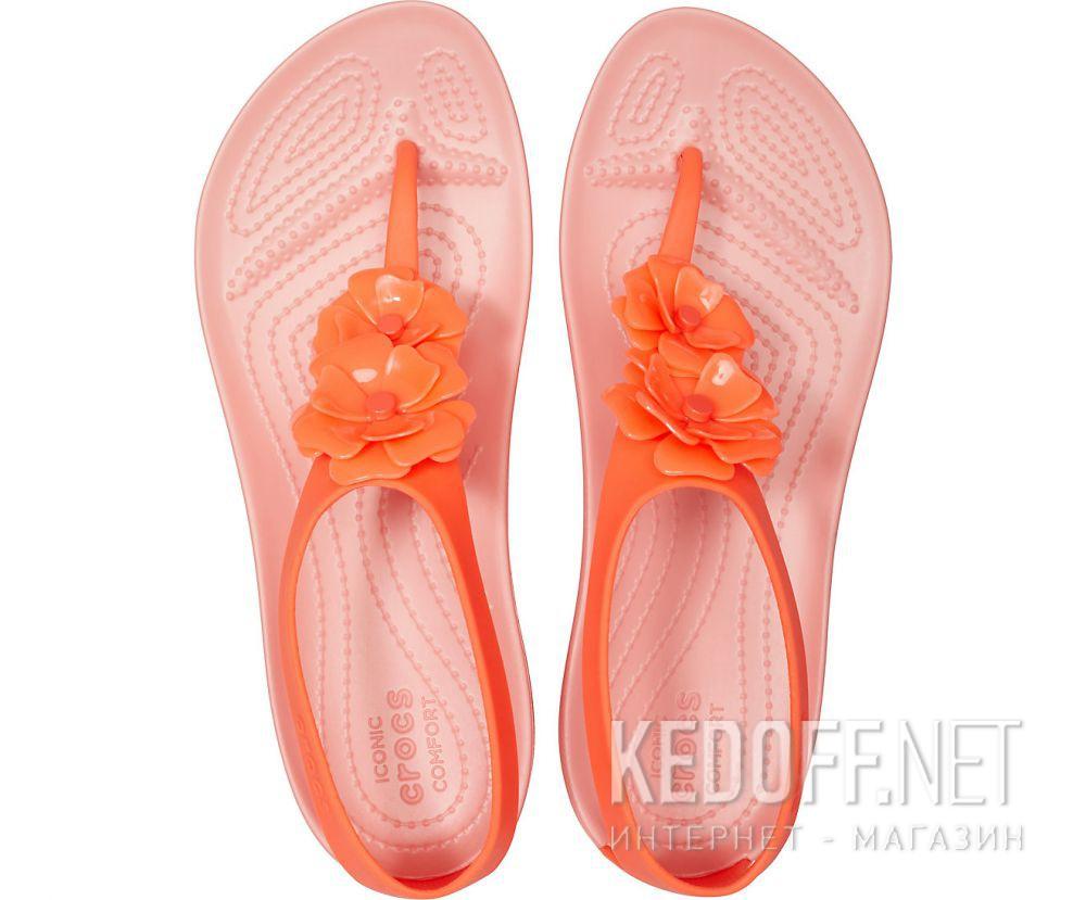 Женские сандалии Crocs Serena Embellish Flip W Bright Coral/Melone 205600-6PT купить Киев