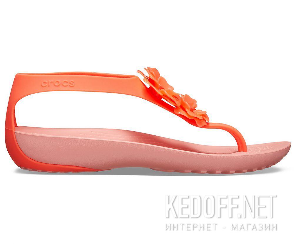 Женские сандалии Crocs Serena Embellish Flip W Bright Coral/Melone 205600-6PT купить Украина