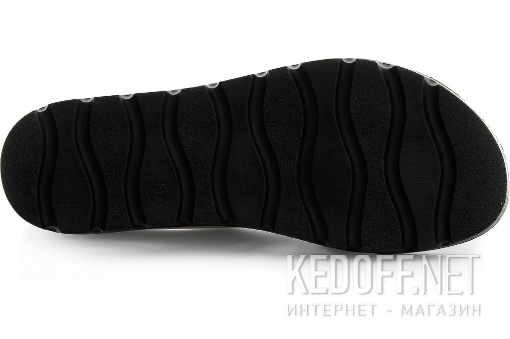 Womens sandals Las Espadrillas D002-14 Black, silver leather