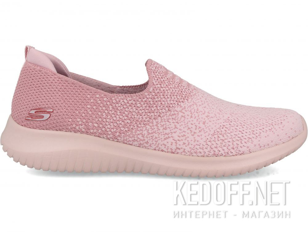 Женские слипоны Skechers Ultra Flex 13123-PNK купить Украина