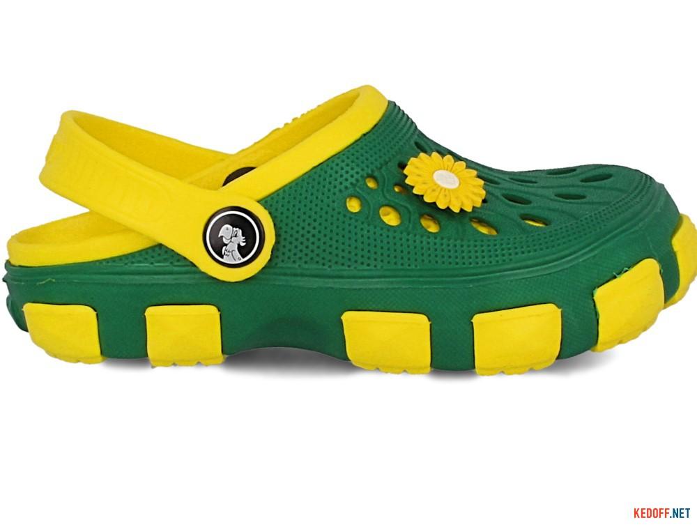 Кроксы Jose Amorales 116120 унисекс   (зеленый/жёлтый) купить Украина