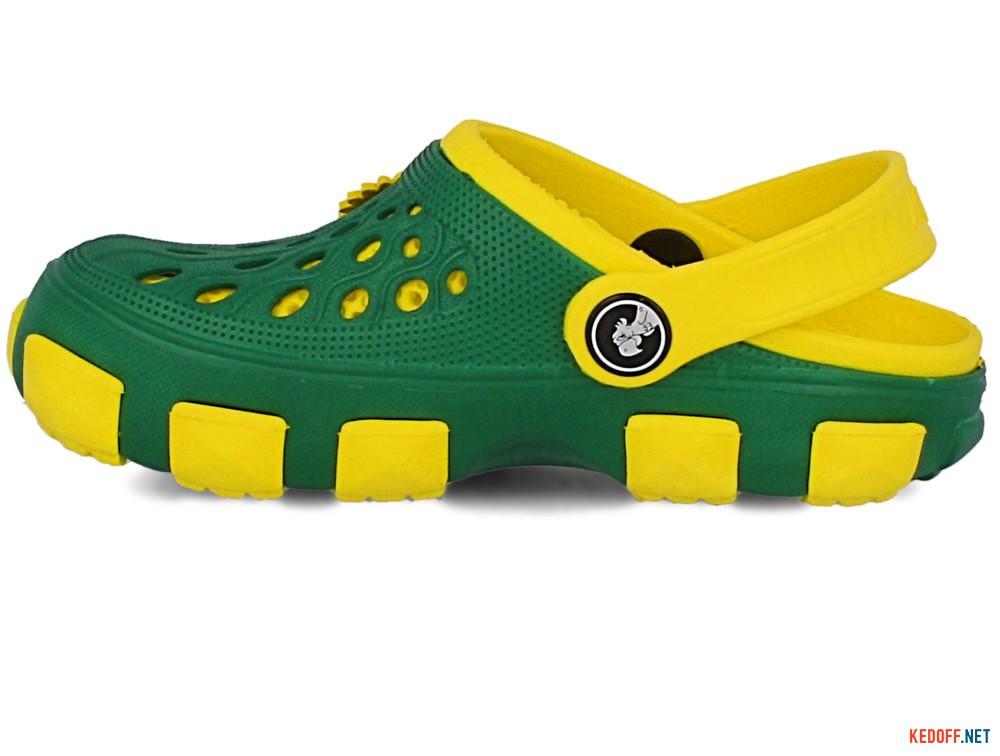 Кроксы Jose Amorales 116120 унисекс   (зеленый/жёлтый) купить Киев