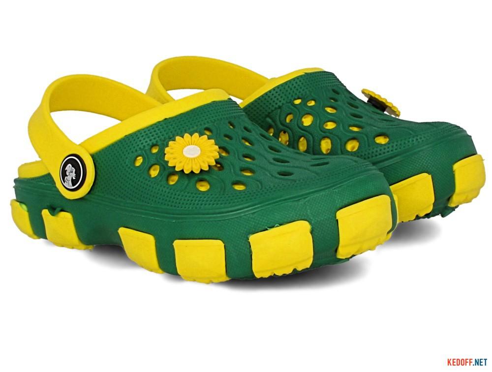 Оригинальные Кроксы Jose Amorales 116120 унисекс   (зеленый/жёлтый)