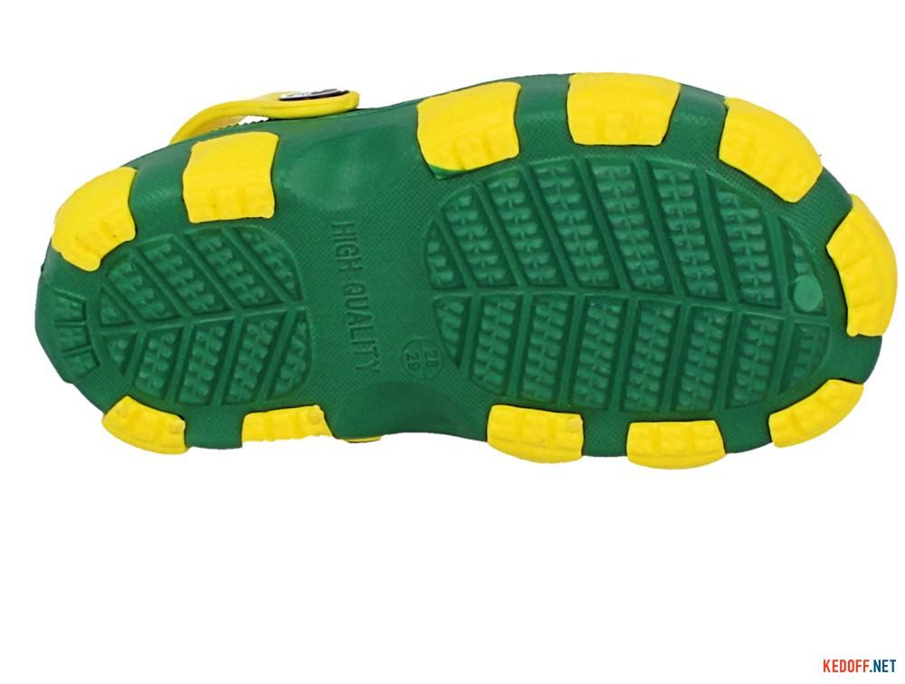 Кроксы Jose Amorales 116120 унисекс   (зеленый/жёлтый) описание