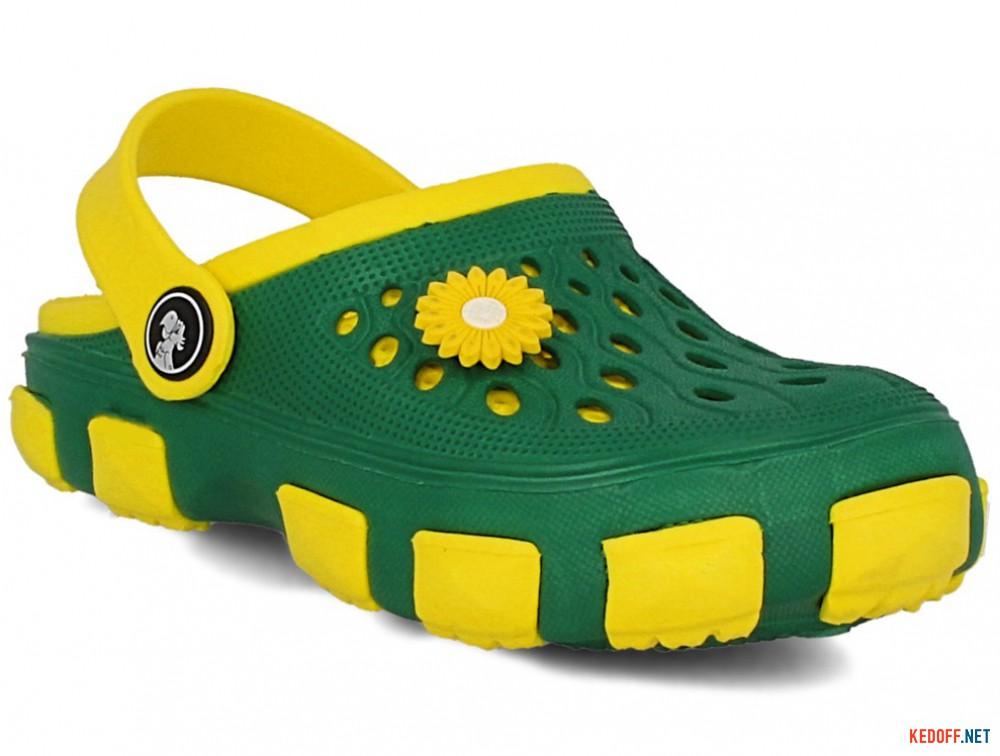 Купить Кроксы Jose Amorales 116120 унисекс   (зеленый/жёлтый)