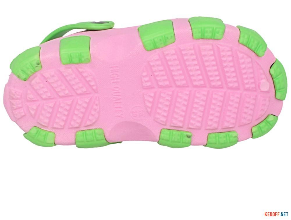Кроксы Jose Amorales 116123 унисекс   (розовый/зеленый) описание