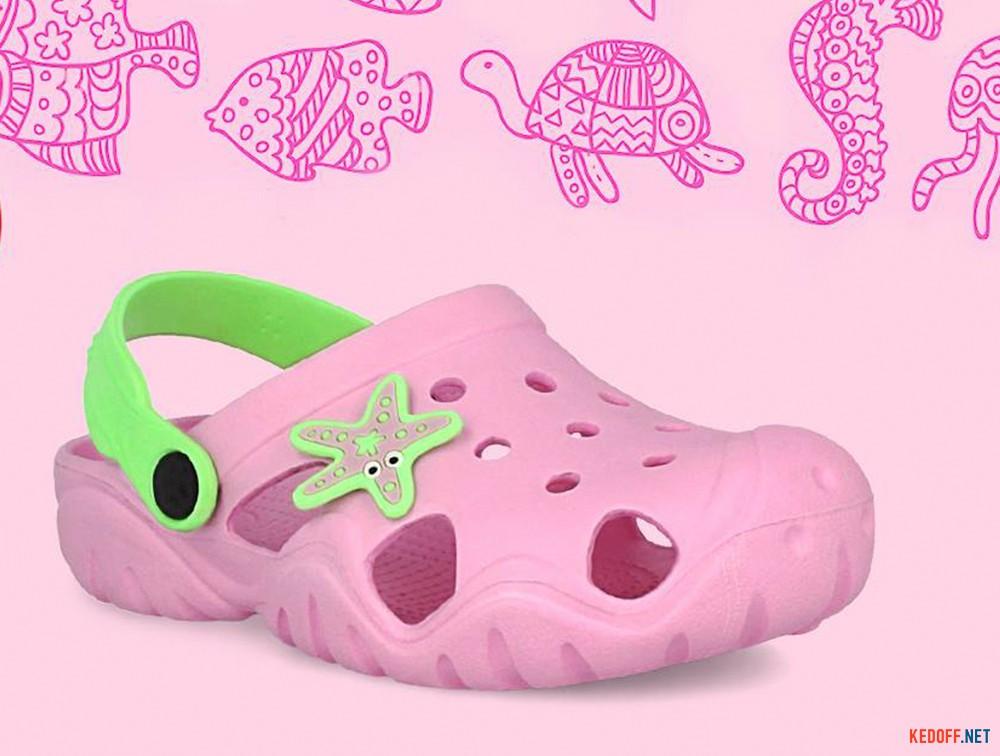Детские кроксы Jose Amorales Pink Star 117082   (розовый) все размеры