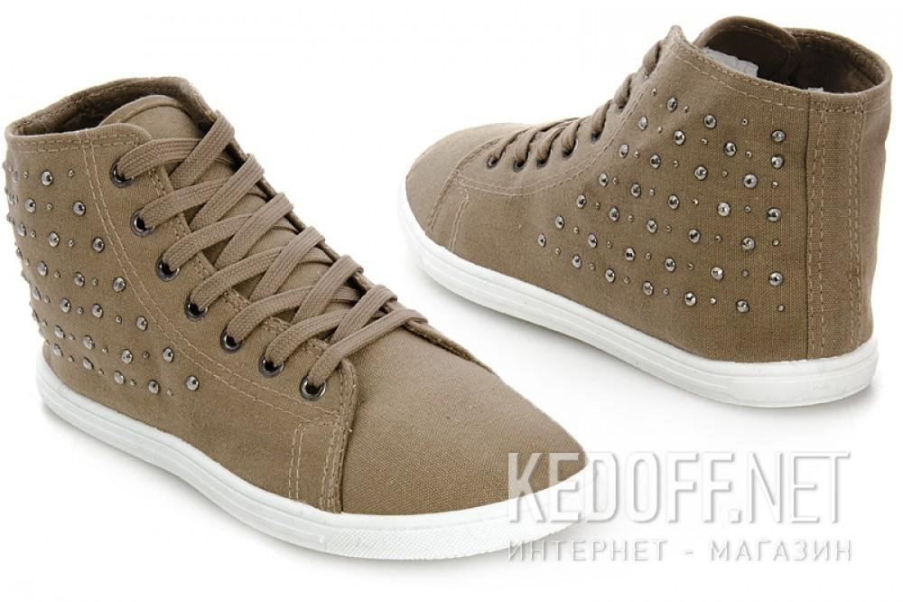 Женские кеды Las Espadrillas 002-1   (светло-коричневый) купить Украина
