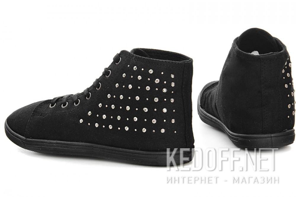Женские кеды Las Espadrillas 002   (чёрный) купить Киев