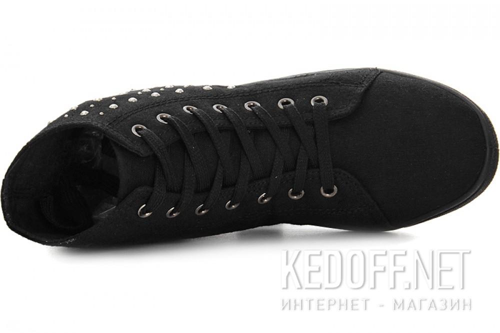 Женские кеды Las Espadrillas 002   (чёрный) все размеры