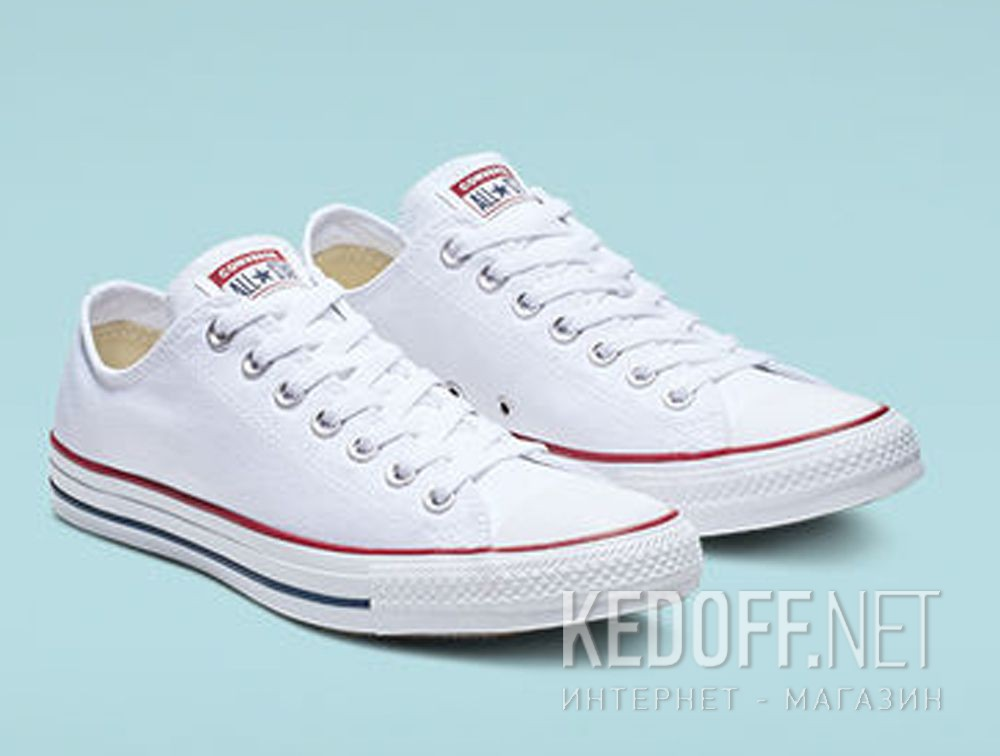 Кеды Converse Chuck Taylor All Star Classic Low Optical White M7652C унисекс   (белый) все размеры