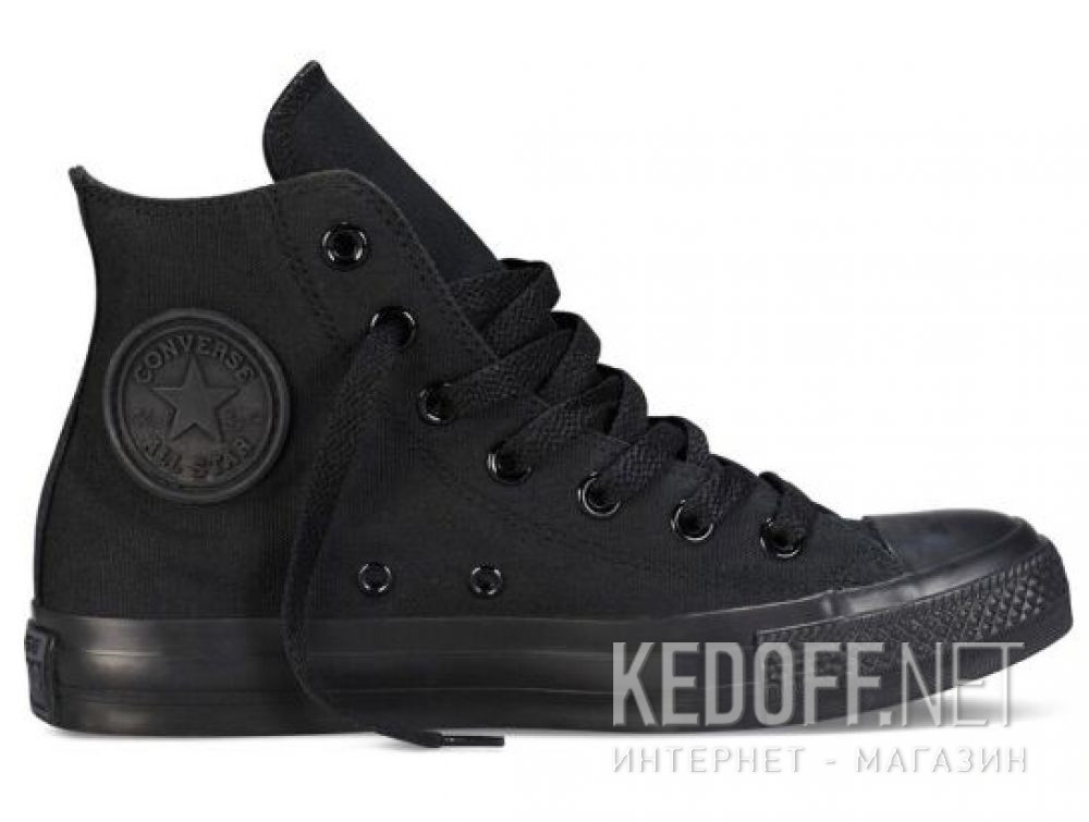Кеды Converse Chuck Taylor All Star Core Hi Black Monochrome M3310 унисекс   (чёрный) купить Киев