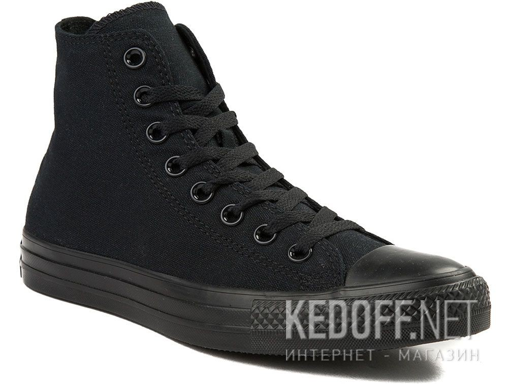 Купить Кеды Converse Chuck Taylor All Star Core Hi Black Monochrome M3310 унисекс   (чёрный)