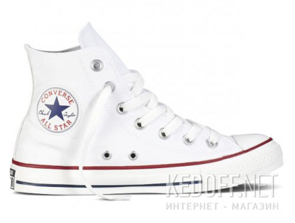 Кеды Converse Chuck Taylor All Star Hi Optical White M7650 унисекс   (белый) купить Украина