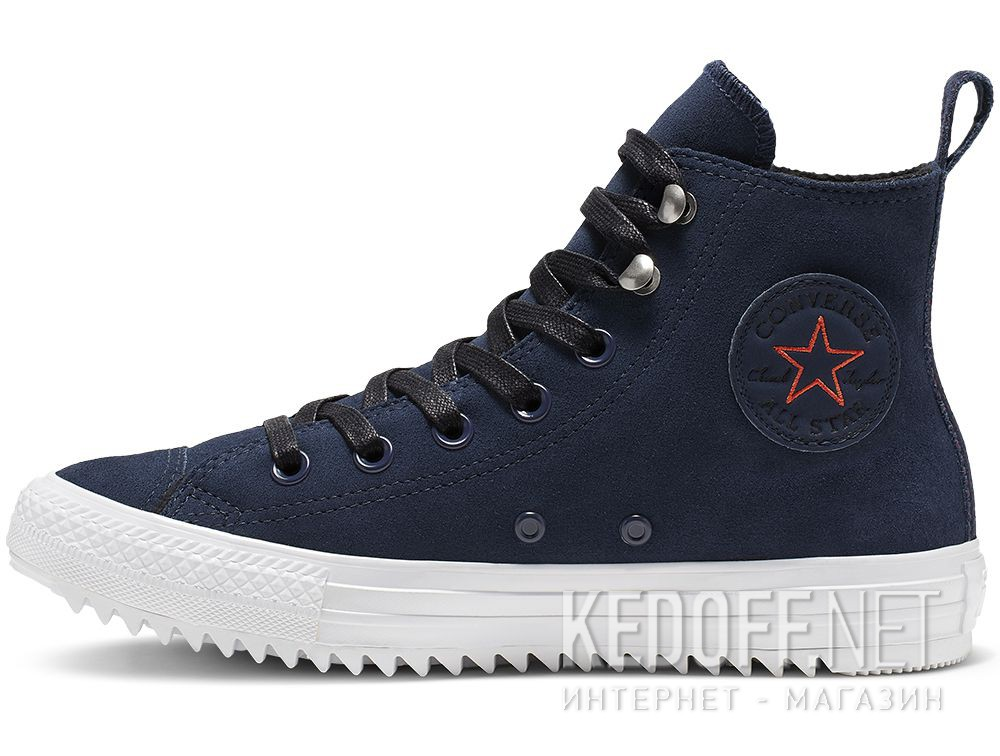 Кеди Converse Chuck Taylor All Star Hiker High Top 565237C Navy Nubuk купить Киев