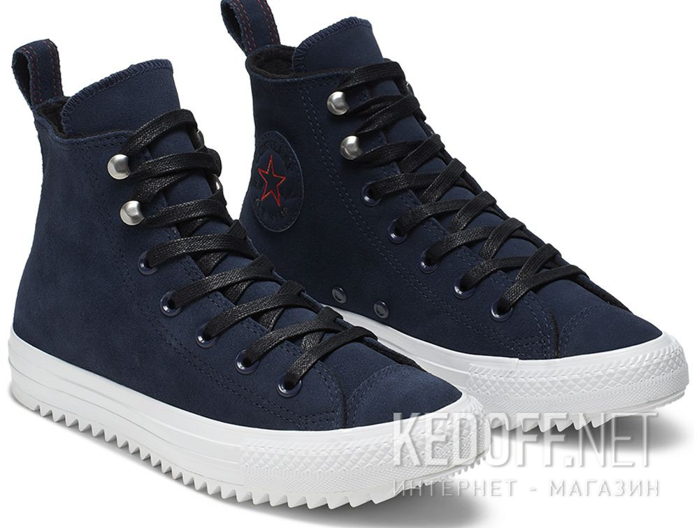 Купити Кеди Converse Chuck Taylor All Star Hiker High Top 565237C Navy Nubuk