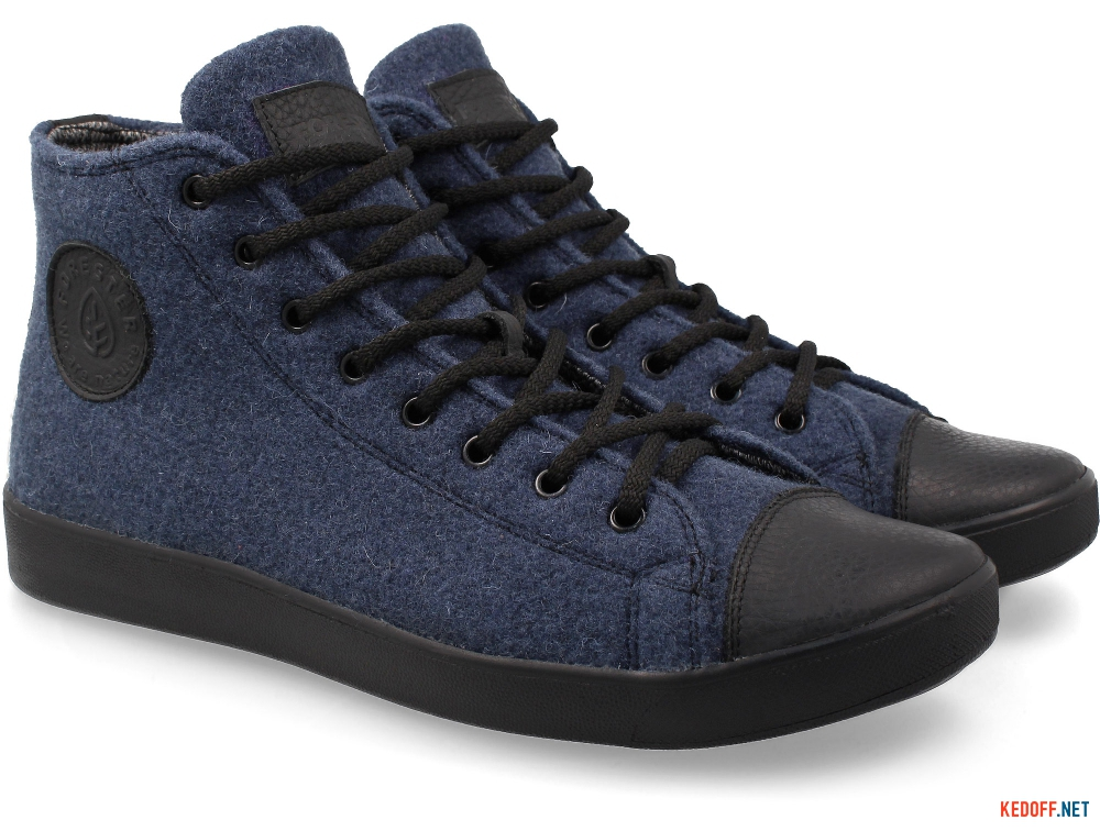 Forester Sneakers Navy Felt 132125-41 Membran Insulated