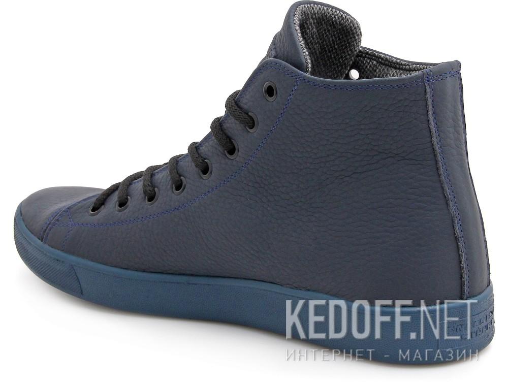 Мужские кожаные кеды Forester Monochrome 132125-895MB   (тёмно-синий) купить Украина