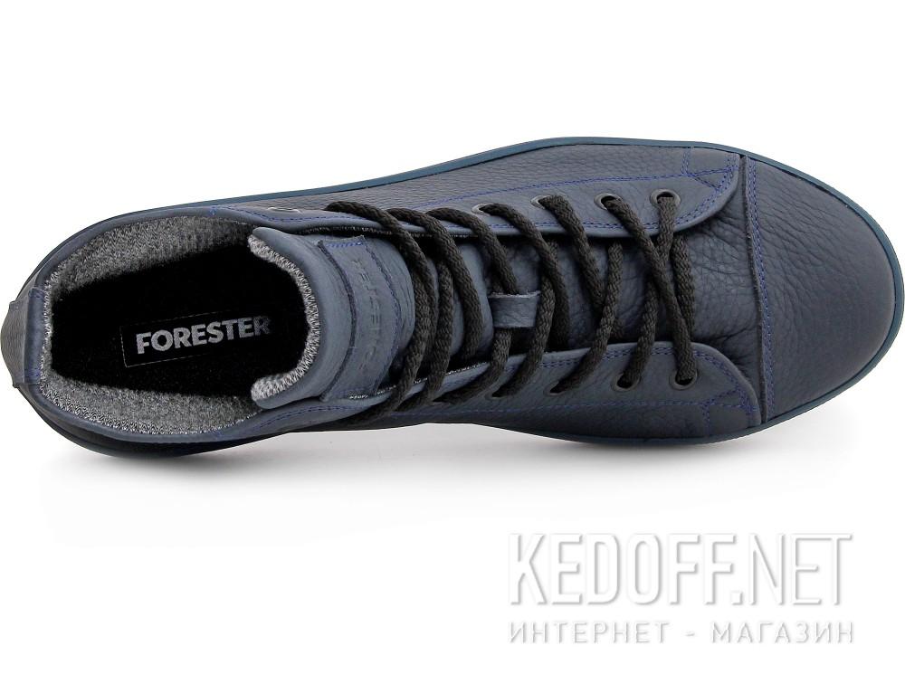 Мужские кожаные кеды Forester Monochrome 132125-895MB   (тёмно-синий) все размеры