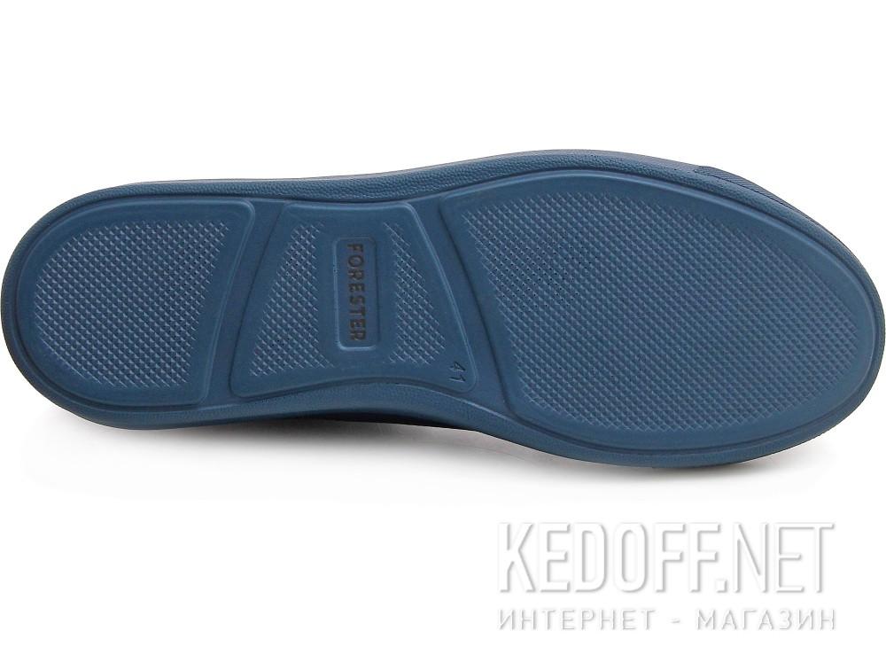 Оригинальные Мужские кожаные кеды Forester Monochrome 132125-895MB   (тёмно-синий)