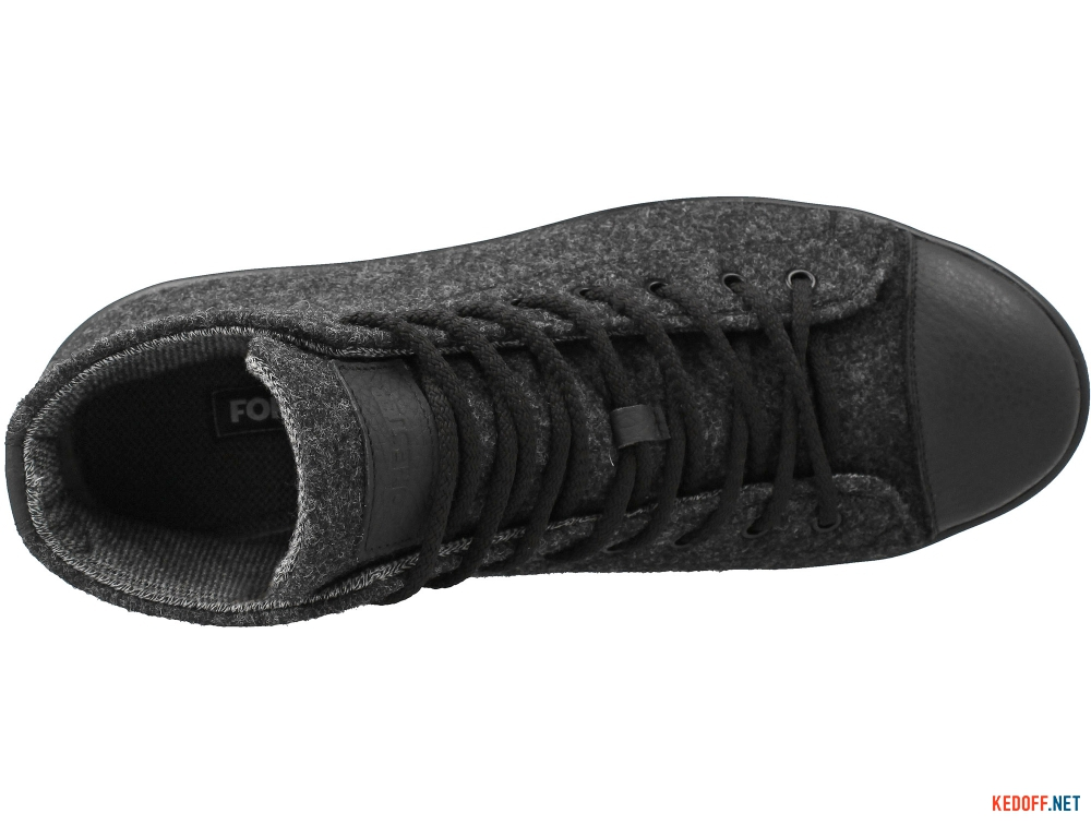 Мужские кеды Forester Dark Grey Wool 132125-39   (тёмно-серый) описание