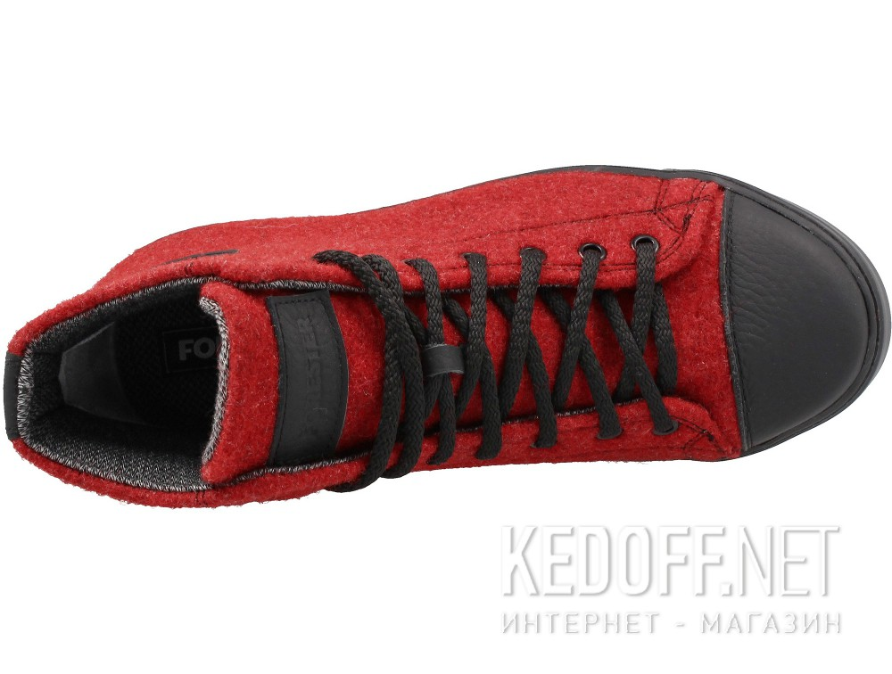 Sneakers Forester Red Felt 132125-47