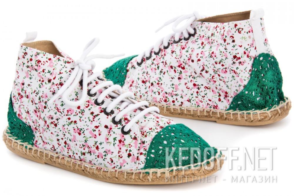 Текстильная обувь Las Espadrillas 1146TP-LB8 унисекс   (multi-color/зеленый) купить Украина