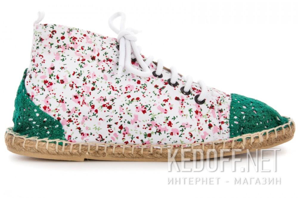 Текстильная обувь Las Espadrillas 1146TP-LB8 унисекс   (multi-color/зеленый) описание