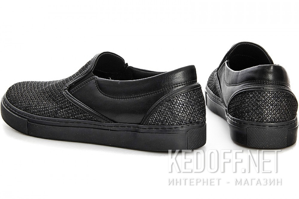 Slipons Las Espadrillas 1513-27SL Black Leather