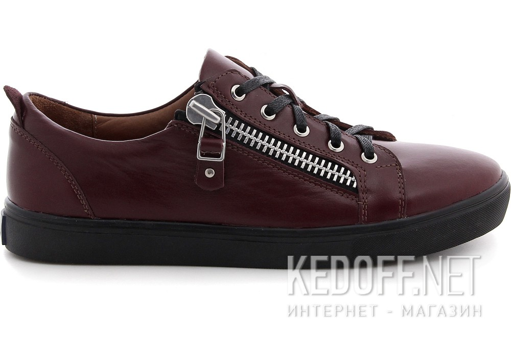 Кеды Las Espadrillas Zipper Low Marsala 1642-260237 Leather